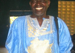 Rom Wandera wearing traditional dress.