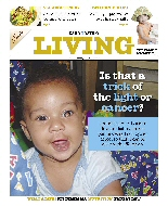 A retinoblastoma awareness story fills the front page of Nation Living, a national magazine in Kenya