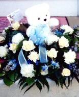 Memorial flowers.