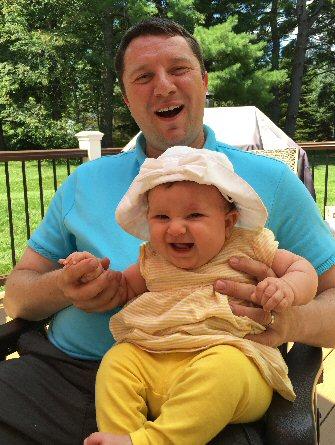Mark Billings and his daughter.
