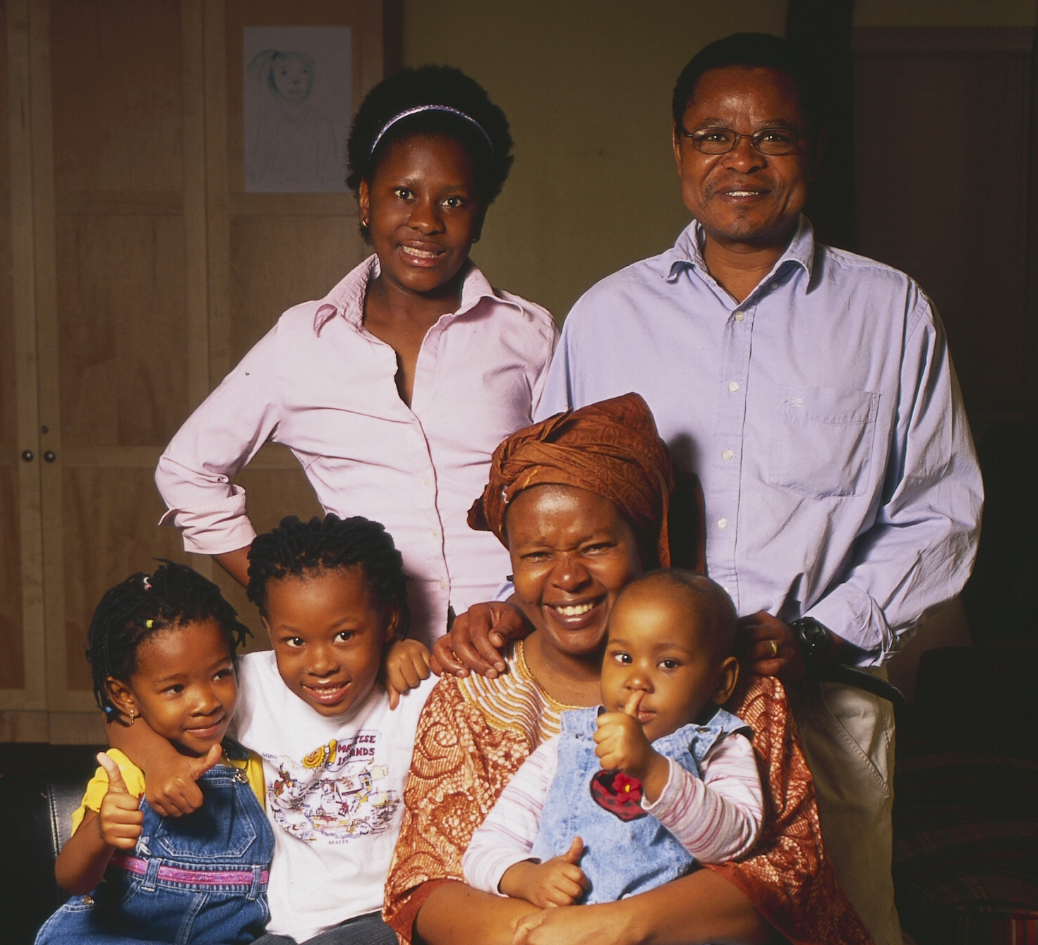 Rati and her family during treatment in Canada.