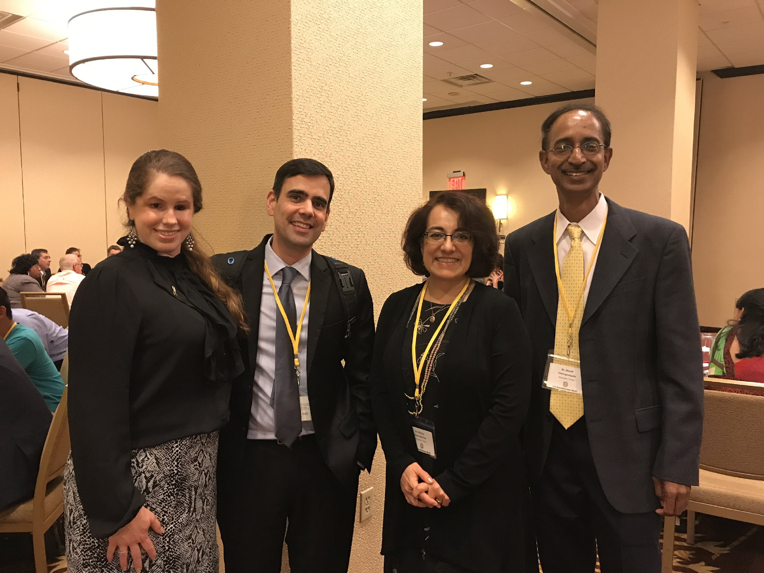WE C Hope USA President, Marissa Gonzalez meets with Luiz Teixeira, Patty Chevez-Barrios and Murali Chintagumpala.