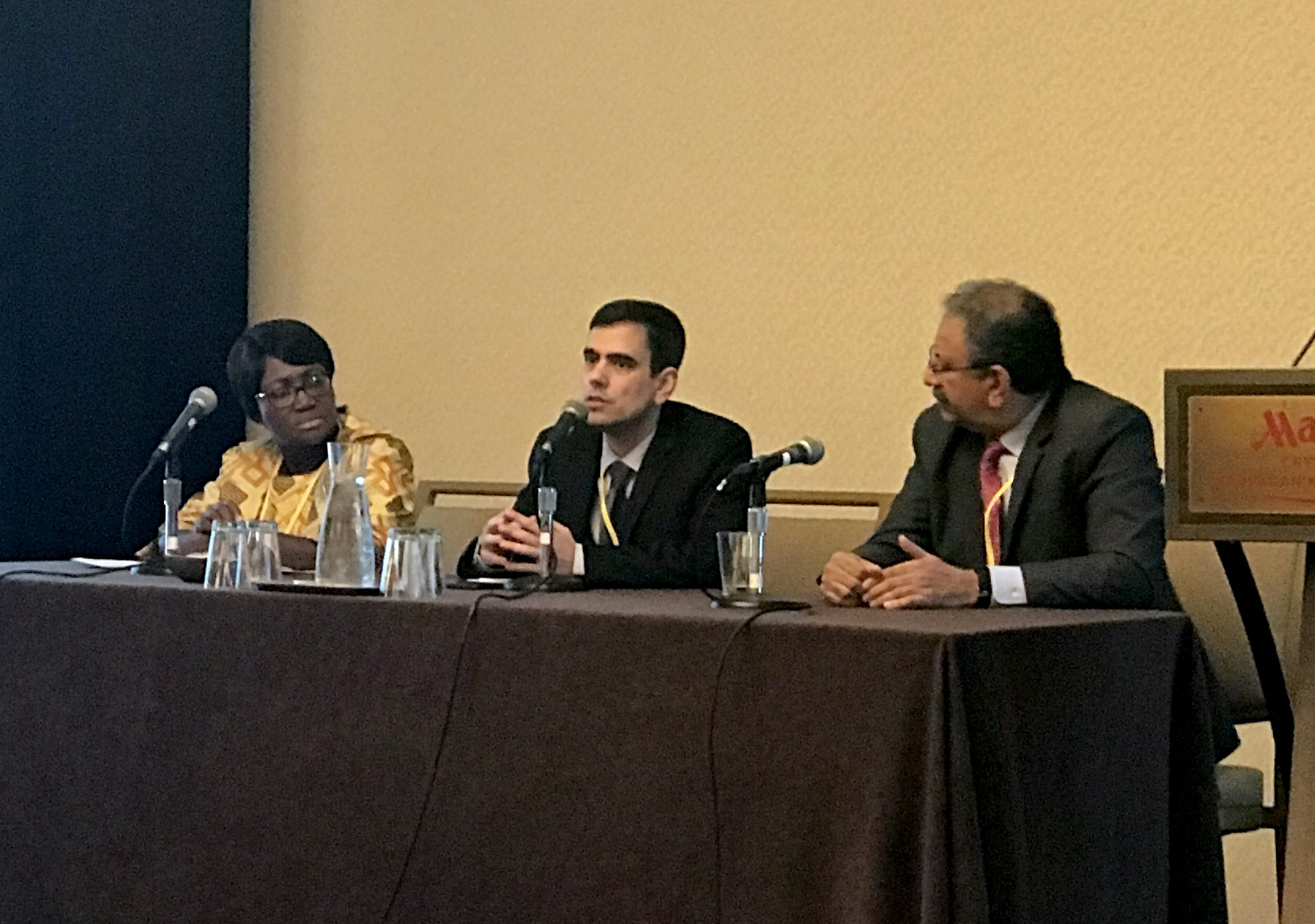 Lorna Renner, Luiz Teixeira and Arun Singh lead discussions on retinoblastoma care in developing countries.