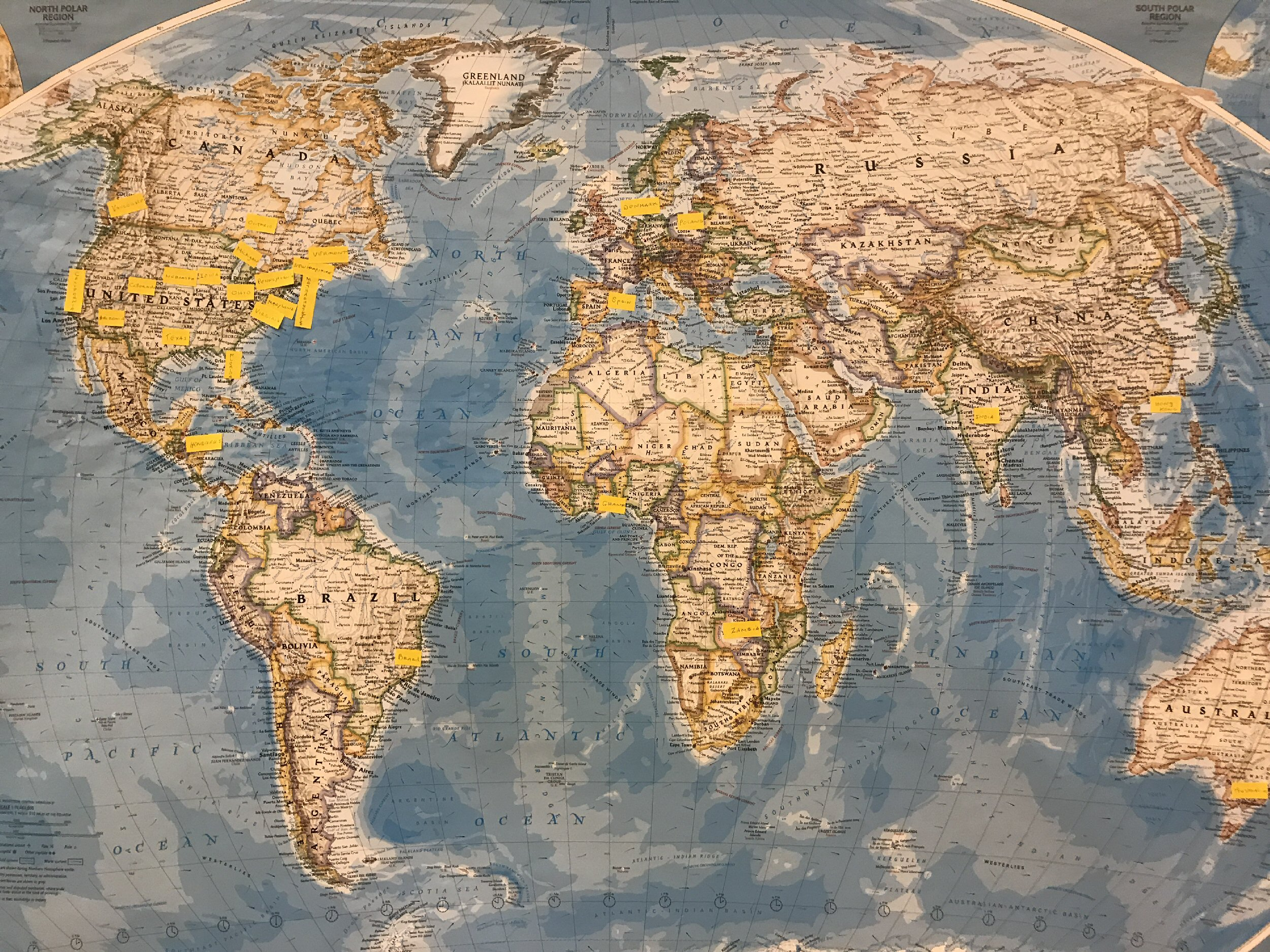 A map shows flags locating our attendees from around the world.