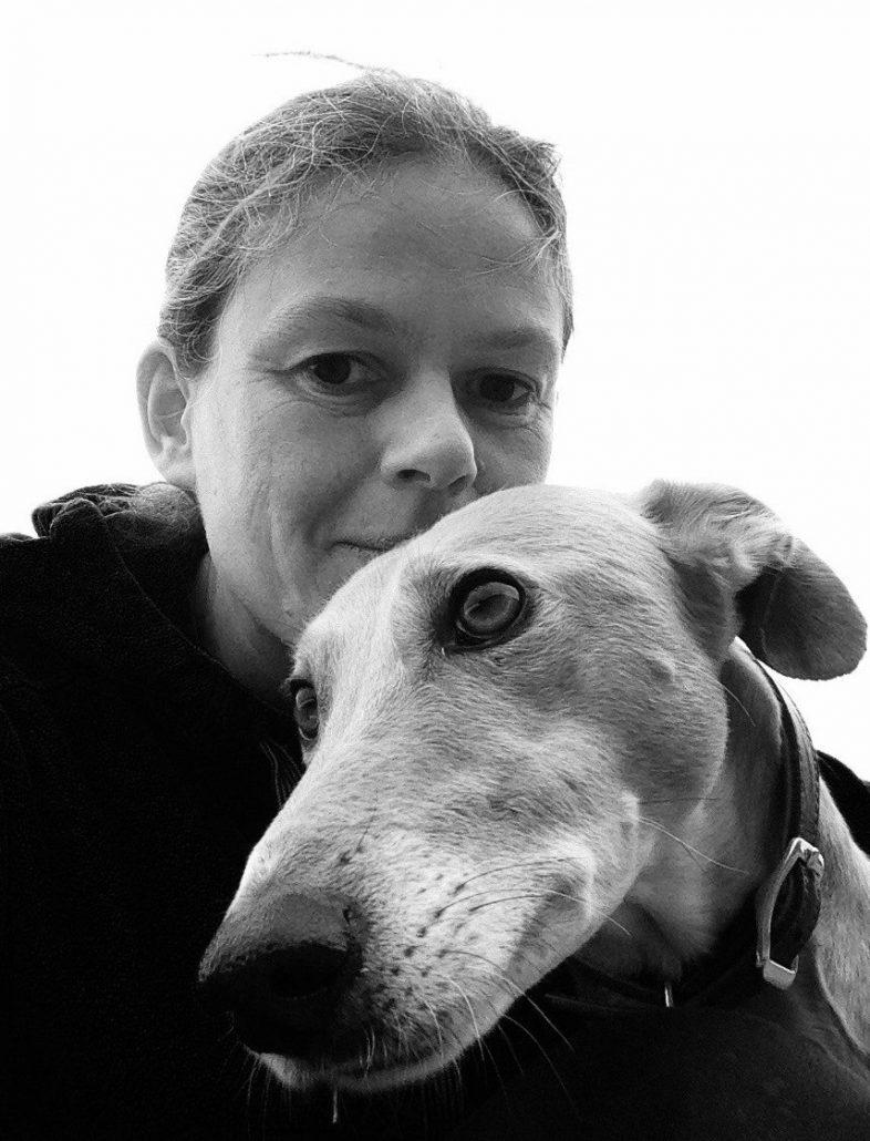 Iona and her beloved pet dog