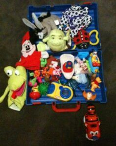 A big collection of toys