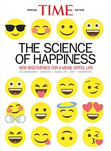 The Science of Happiness TIME magazine cover, featuring the title and many different smiley emoji faces.